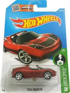 2016 Hot Wheels Super Treasure Hunt Tesla Roadster