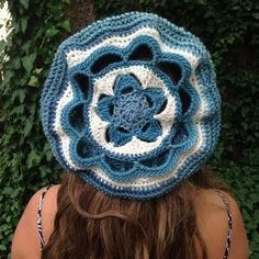 Starfish Flower Beret Hat Hair Accessories Gift For Women Handmade Crochet - pinned by pin4etsy.com