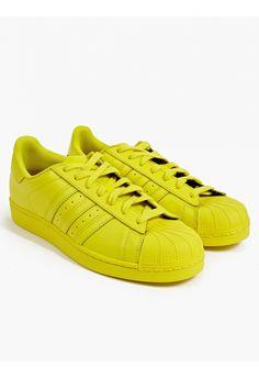 adidas Originals Men's Bright Yellow Supercolor Pack Superstar Sneakers   oki-ni