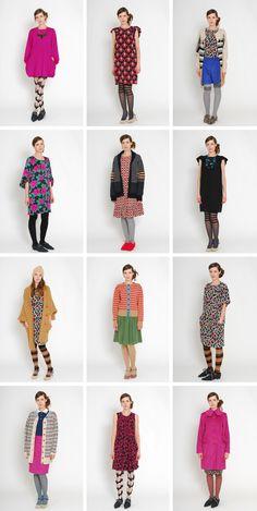 Love every single look. Fall collection of Eley Kishimoto.