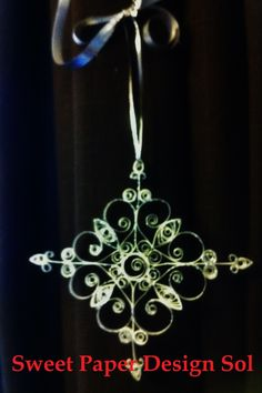 2 Set-Beautiful Paper Quilled Christmas Snowflake Ornament (If you order before Nov.25. You can get a 10% discount)  /www.etsy.com/ca/listing/122256155/2-set-beautiful-paper-quilled-christmas?ref=shop_home_active