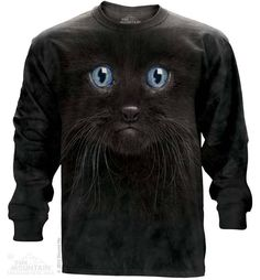 Black Kitten Long Sleeve T-Shirt - 30% DISCOUNT ON ALL ITEMS - USE CODE: CYBER  #Cybermonday #cyber #discount