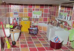 My dollhouse - with new corner bath