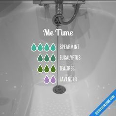 Me Time - Essential Oil Diffuser Blend Essential Oil Diffuser Blends, Doterra Essential Oils, Design Facebook, Essential Oil Combinations, Diffuser Recipes, Aromatherapy Oils, Diffusers, Healthy, Cobalt Blue