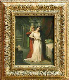 Théodore CHASSÉRIAU - Le Coucher de Desdémone - 1849 - Louvre (univers tourmenté de Shakespeare)