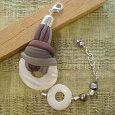 Mother of pearl bracelet gray pearl bracelet by DenDesign jewels