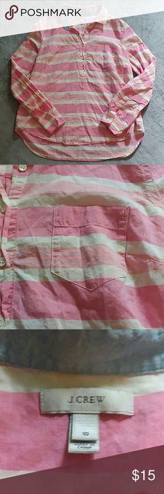J Crew women's size 10 collared shirt J Crew women's size 10 button down collared shirt J. Crew Tops Button Down Shirts