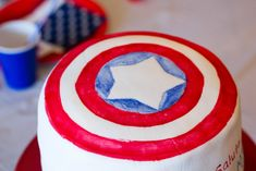 Captain America Cake - Me and My Insanity