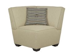 A ridiculously comfortable and plush chair that'll fit perfectly in any empty corner -- add a lamp and instantly turn any corner into a cozy book nook. | Cashmere Corner Chair cort.com