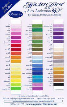 Wonderful colour range available through quiltingandbeyond.co.nz