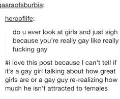 i am most definitely on the gay girl side of things