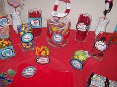 Dr Seuss Candy Buffet Jar 3 inch party by creativelyexpressive, $9.00