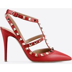 4f2099ff691 Valentino Garavani Rockstud Ankle Strap ( 910) ❤ liked on Polyvore  featuring shoes