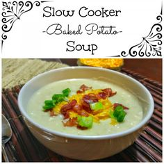 This Slow Cooker Baked Potato Soup will not only tantalize your taste buds, but also warm your whole body. It is the ultimate bowl of comfort!