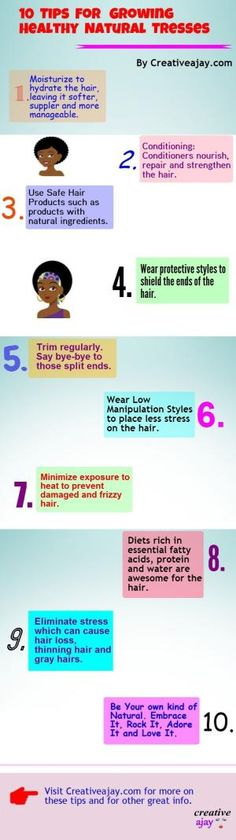 10 Tips For Growing Healthy Natural Tresses by Kurlz