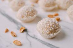 Coconut Peanut Mochi (Nuo Mi Ci - 糯米糍) - The Woks of Life Filipino Desserts, Asian Desserts, Japanese Desserts, Filipino Food, Rice Desserts, Gourmet Desserts, Healthy Desserts, Dessert Recipes, Peanut Mochi Recipe
