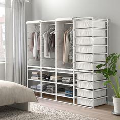 JONAXEL Fr/txt bskts/clths rls/cvr/shlv uts - IKEA for inside wardrobe Neat And Tidy, Tidy Up, Small Bedroom Storage, Ikea Closet, Clothes Rail, Design Your Own, Shelving, The Struts, Interior