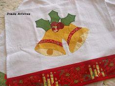 Pano de prato sinos natalinos (irmasarteiras2) Tags: natal patchwork panodeprato patchaplique