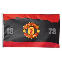 Manchester United Flag your Manchester United Flag, Pennant, Banner, and Decorations Source Soccer Flags, Soccer Theme, Mustang, English Football League, Custom Football, Most Popular Sports, Custom Flags, Manchester United Football, Sports Figures