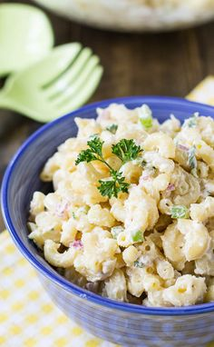 Easy and creamy Macaroni Salad that will be gobbled up by both kids and adults.