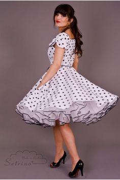 SETRINO Petticoat SWING 2 layers white with black seam