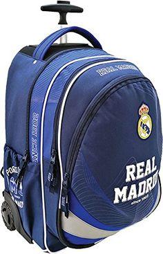 Mochila escolar exclusiva con ruedas del Real Madrid, 47x 35x 20cm, elegante: Amazon.es: Electrónica School Bags, Real Madrid, School Backpacks, Baggage, Wheels, Elegant, School Tote Bags
