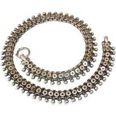 Victorian Sterling Silver Victorian Collar Book Chain Necklace