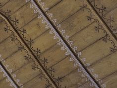 Ceiling design, hand painted ceiling in church in Normandy, France Painted Ceiling Beams, Wooden Ceilings, Ceiling Murals, Floor Ceiling, Ceiling Ideas, My French Country Home, Architecture Old, Ceiling Design, House Painting