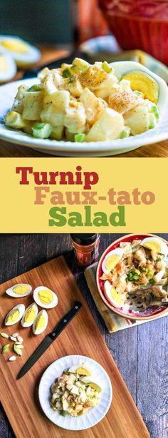 This turnip fauxtato salad is a great low carb alternative to potato salad. Even if you don't care about carbs, it's a delicious way to eat turnips!