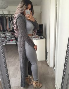 Nice Put Together Outfits ❤ Fashion Mode, Fashion Killa, Look Fashion, Womens Fashion, Outfit Look, Grey Outfit, Fall Winter Outfits, Autumn Winter Fashion, Moda Outfits