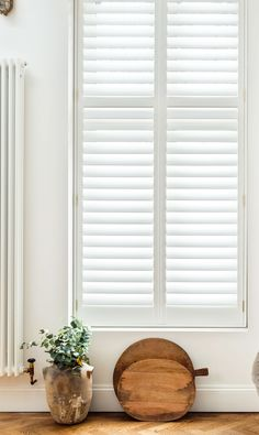 Stylish modern shutters to fit the length of your window. Our range of full height shutters are one of our most sought-after styles. Modern Shutters, Interior Shutters, Wood Shutters, Window Shutters, Tall Windows, Blinds For Windows, Shaped Windows, Bathroom Windows, Neutral Paint