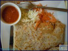 Spicy Indian Pancake at #Manekin Poznan