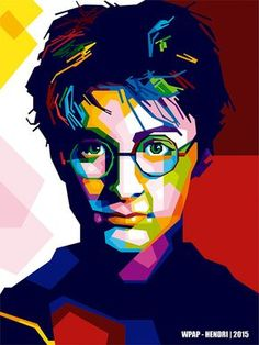 Harry Potter - WPAP Version on Pantone Canvas Gallery