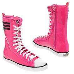 Pink Converse high tops
