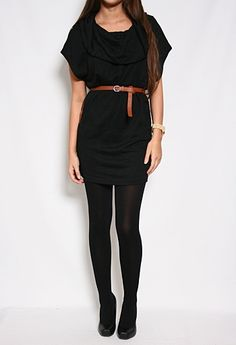 Cowl Collar Dress