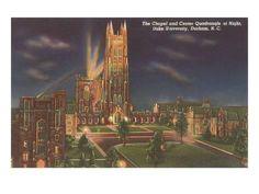 Art Print: Night, Duke University Poster : 24x18in