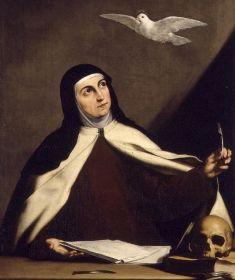 Oração de Santa Teresa D'Ávila:   Nada te perturbe, nada te amedronte.  Tudo passa, a paciência tudo alcança.  A quem tem Deus nada falta. Só Deus basta!