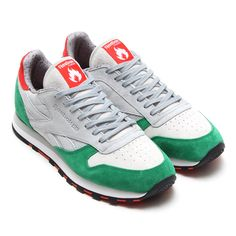 #Hanon x #Reebok CL Leather R12 Grey/Snow/Grey/Basil Green #sneakers