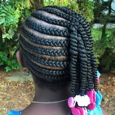 The Hair Geek LLC has done it again! Thank you for GaBBY's cute braids and two strand twists with hot pink, white, turquoise and pink Sweet Pea and Little Lady GaBBY Bows!