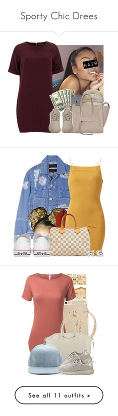 """Sporty Chic Drees"" by nayedm ❤ liked on Polyvore featuring Dorothy Perkins, adidas Originals, House of Holland, Lime Crime, AX Paris, Louis Vuitton, Converse, Forever 21, MAC Cosmetics and Halston Heritage"