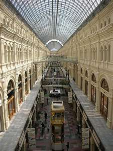 Inside GUM department store in Moscow. Was there 2003.