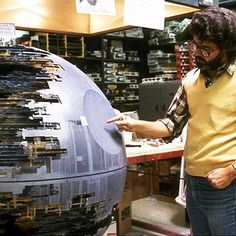 George Lucas with the Death Star.