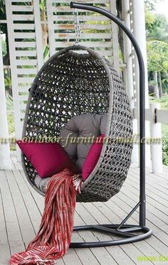 Hanging egg chair, I love these chairs too https://emfurn.com/collections/mid-century-modern