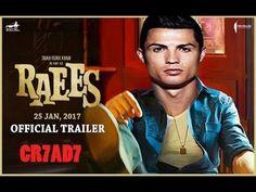 Raees Trailer Ronaldo In & as Raees HD ( ft. Official Trailer, Messi, Ronaldo, Football, Baseball Cards, Youtube, Soccer, Futbol, American Football