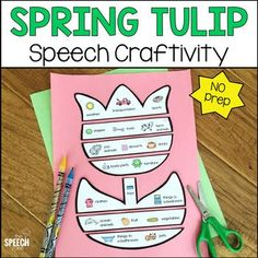 Spring Tulip Speech And Language Craft