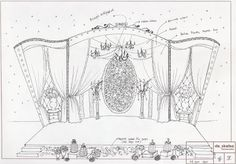 The Decorations done by De Sketsa for our Wedding Reception was really nice. Wedding Stage Backdrop, Wedding Stage Design, Stage Set Design, Set Design Theatre, Wedding Stage Decorations, Wedding Designs, Wedding Reception, Wedding Drawing, Decoration Evenementielle