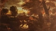 """LANDSCAPE WITH SAINT BRUNO IN ECSTASY. oil on canvas. 73,2 × 97,3 cm. Signed """" K.K.K.K."""" lower right - hand corner. State of conservation : good. Provenance : 1957, AGNEW, acquired by Sir Denis Mahon. Exhibited : 1989 / 1990, Lugano / Roma, n. 1.2."""