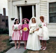 Karen was a bridemaid at Sandy and Steve's wedding