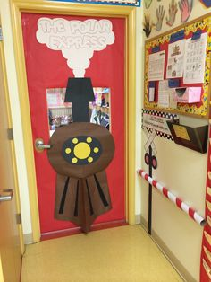All Aboard The Polar Express Classroom Christmas Door