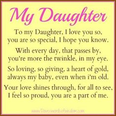 I Love My Daughter Quotes Love Daughter Love To Daughter From Mom  Saying  Birthday